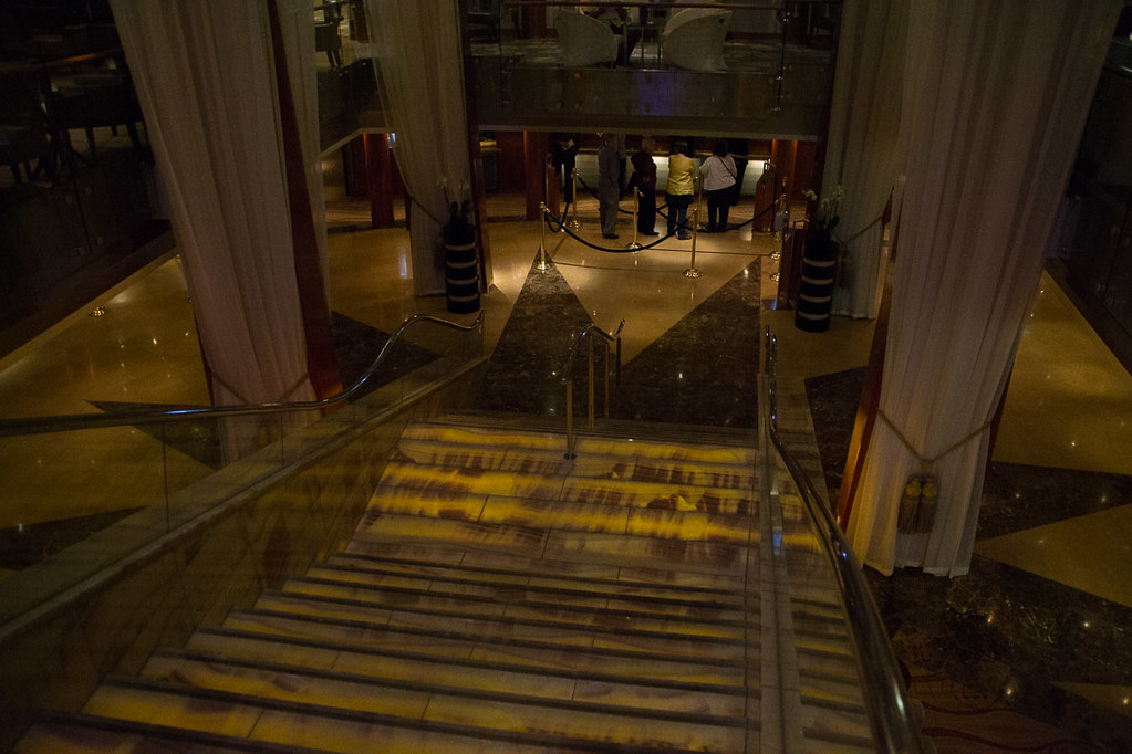 Staircase on cruise ship