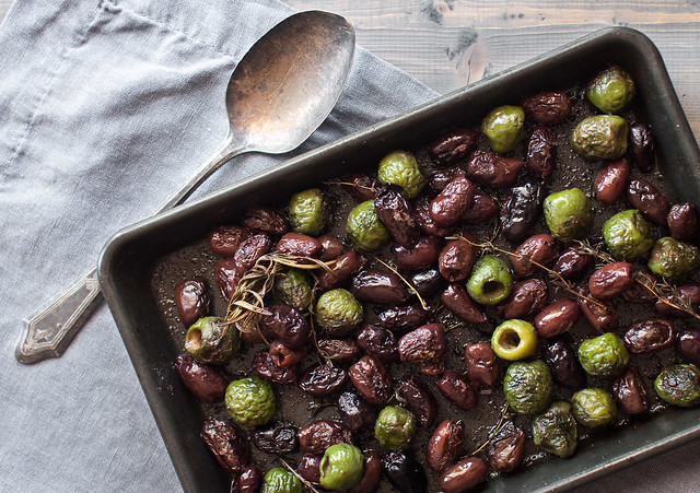 Sizzling baked olives, with a recipe for creamy tomato sauce zucchini spaghetti