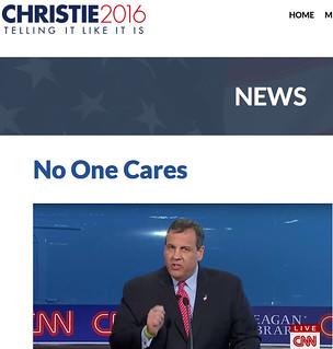 Chris Christie No One Cares