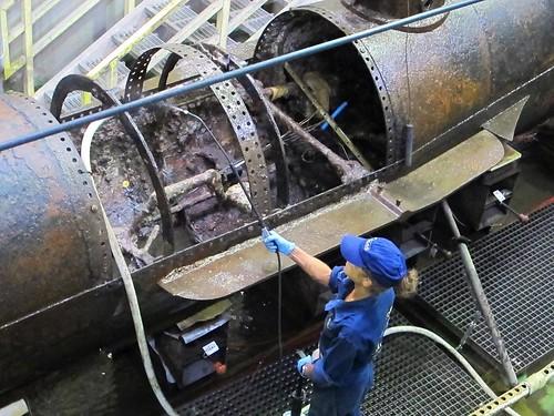 Cleaned Hunley hull