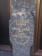 Photo of The Harrods Bombing, Jane Arbuthnot, Stephen Dodd, and Noel Lane marble plaque