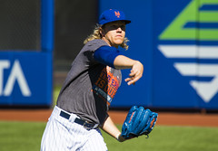 Noah Syndergaard throws on the side 3d