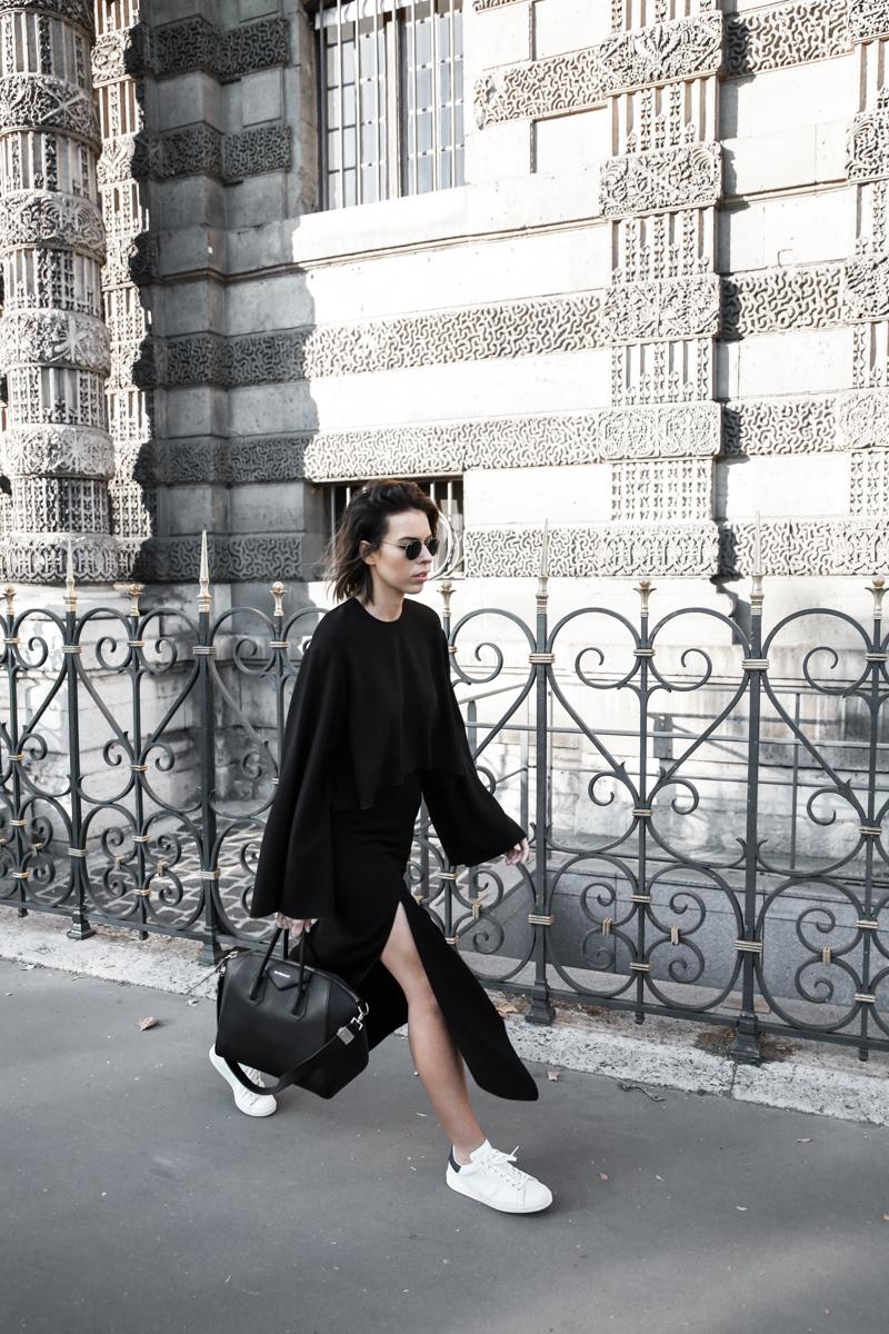 paris fashion week, street style, ss16, black and white, Ellery, Protege Flare sleeve top, Dion Lee slash split skirt, Isabel Marant sneakers, Givenchy Antigona, modern legacy, fashion blogger (1 of 1)