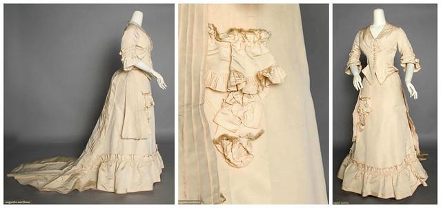Robe de mariée à poches, 1875