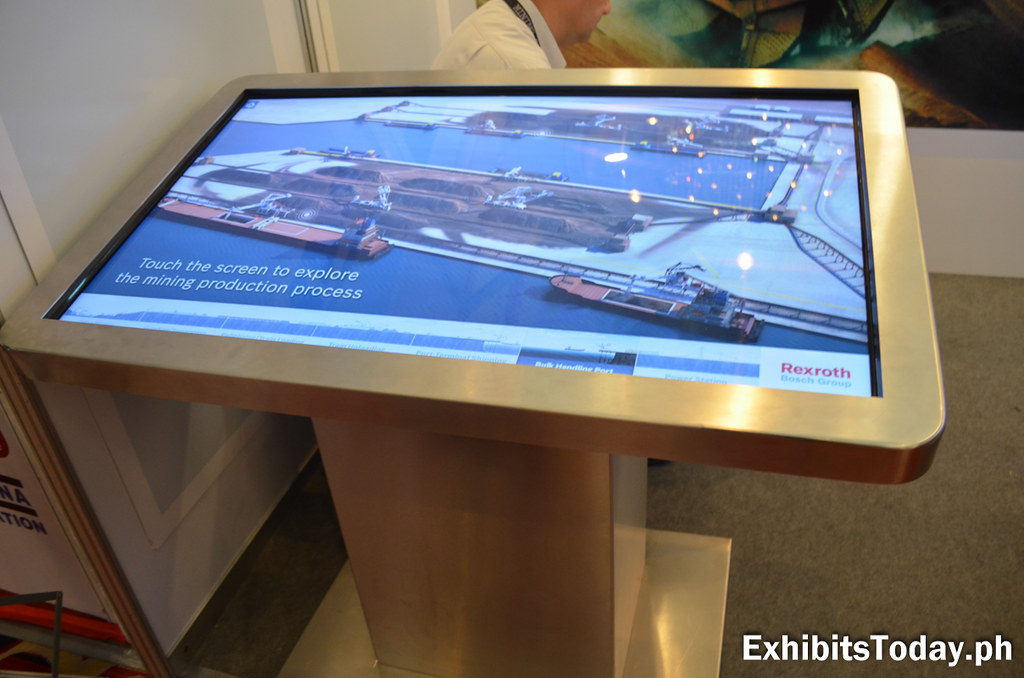 Touchscreen monitor by Rexroth