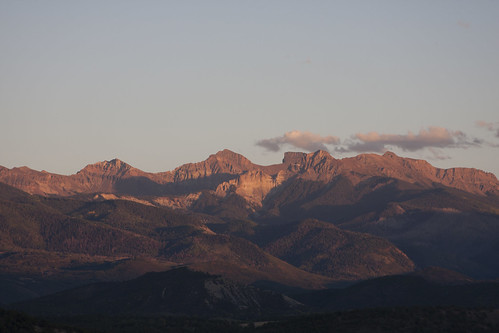 sunset summer mountains colorado
