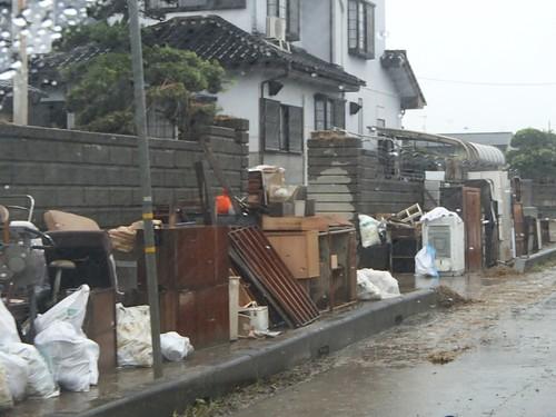 茨城県常総市で水害ボランティア(援人 0917便 関東・東北豪雨 2015年9月)