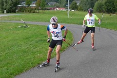 Mistry republiky v běhu na kolečkových lyžích jsou Jakš a Vrabcová Nývltová