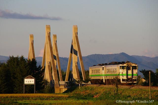 宗谷本線橋梁とキハ40