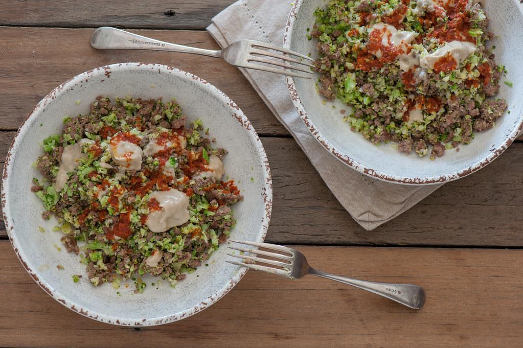 m4. Broccoli 'Couscous' & Beef