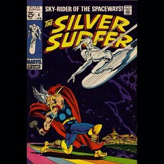 Surfer vs. Thunder God, by Big John. #comics
