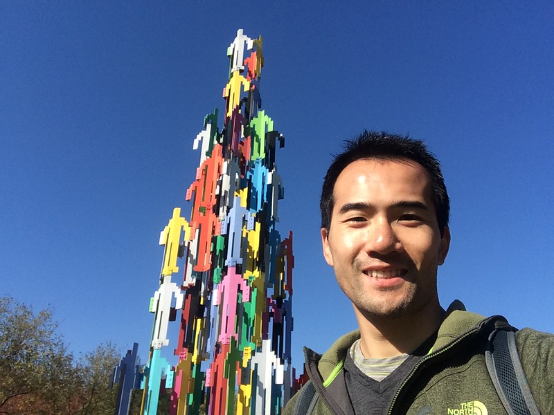 This tower delighted me to take a selfie.