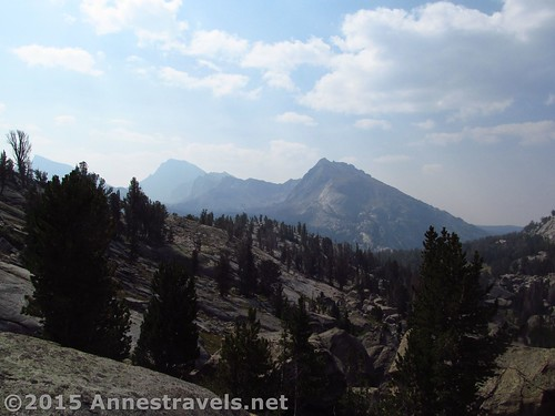 Looking south from the middle of Jackass Pass, Wind River Range, Wyoming
