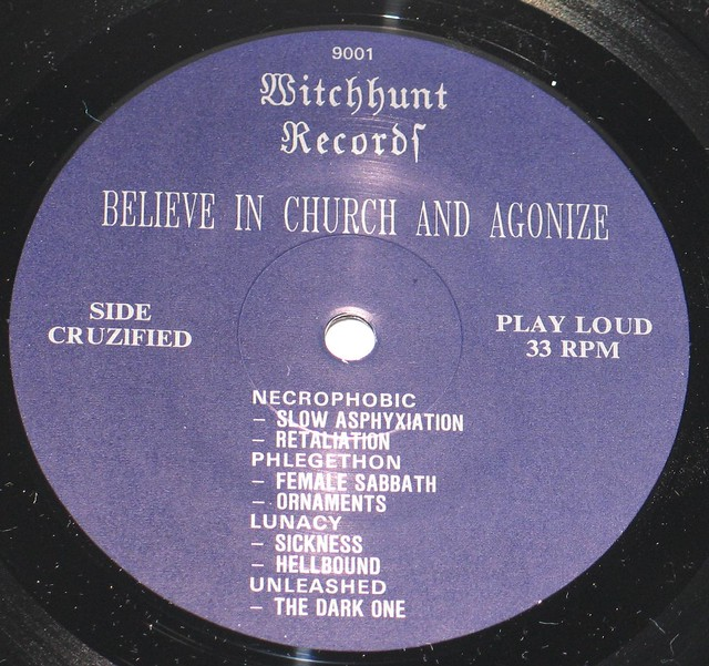 "Witchhunt Records Believe in Church and Agonize 12"" Vinyl LP"