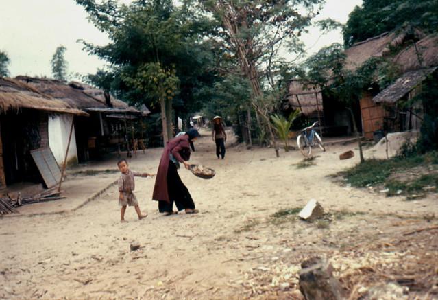 Vietnam War 1966 - Village road - Một con đường làng ở miền Trung VN