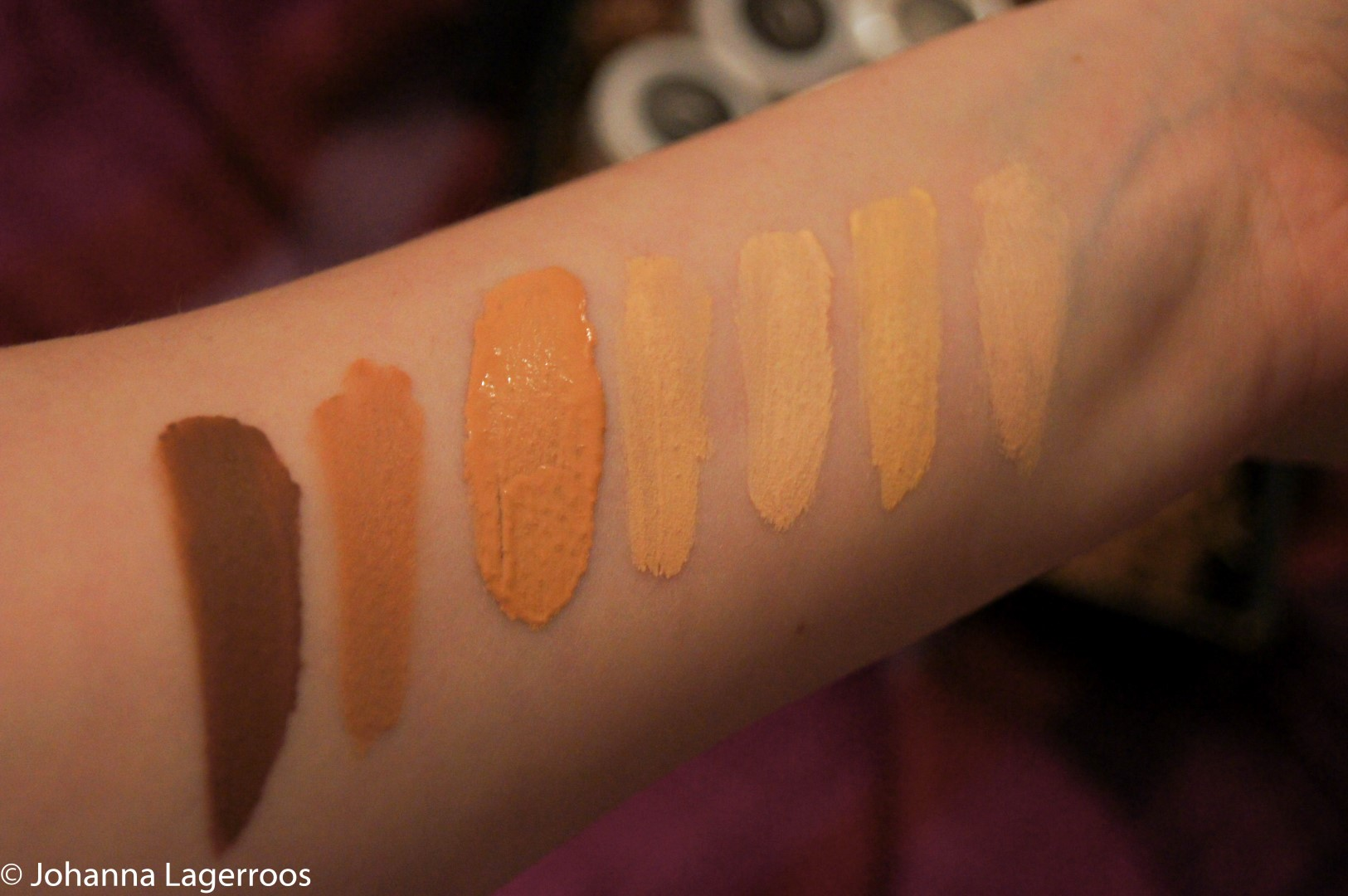 Clarria Lucky 7 swatches