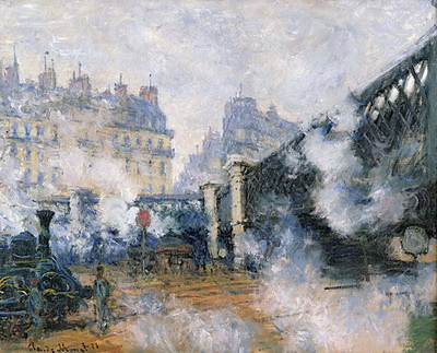 モネ《サンラザール駅》