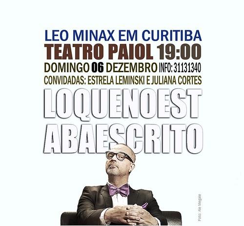 Leo Minax no Teatro Paiol