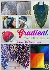 Gradient ~ crochet pattern round up from Jessie At Home