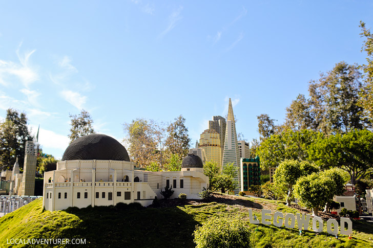 Lego Griffith Observatory Los Angeles - If you love travel, you will love this around the world tour at Legoland California Resort.