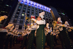 The Colorado State Marching Band Performs in the 9News Parade of Lights