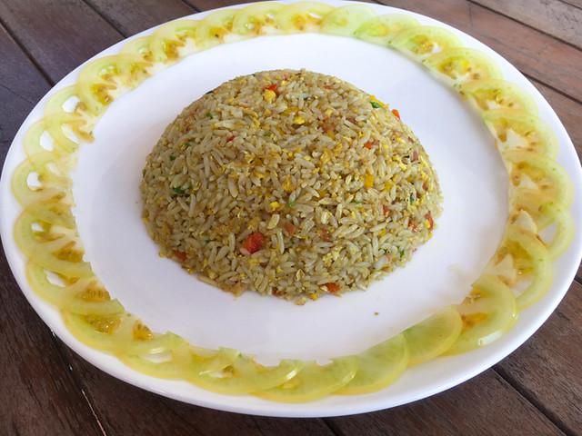 fried kunyit rice