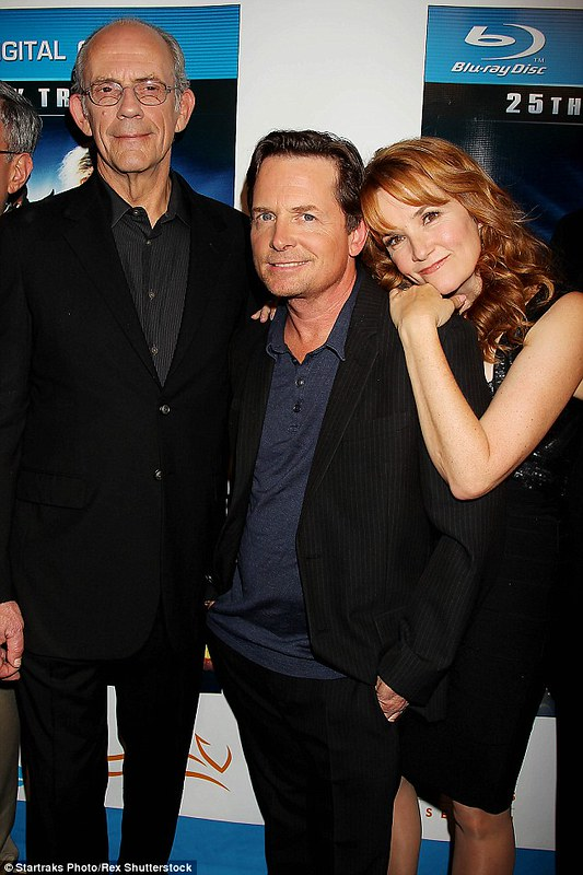 Back to the Future - Cast - Christopher Lloyd, Michael J. Fox and Lea Thompson - Anniversary Photo 1