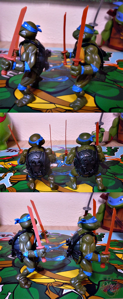 "Nickelodeon ""HISTORY OF TEENAGE MUTANT NINJA TURTLES"" FEATURING LEONARDO - ORIGINAL '88 LEONARDO iv / ..with Vintage '88 release (( 2015 ))"