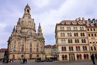 Obraz Kościół Marii Panny w Dreźnie. dresde dresden allemagne germany deutschland saxe saxen altstadt eglise notredame frauenkirche