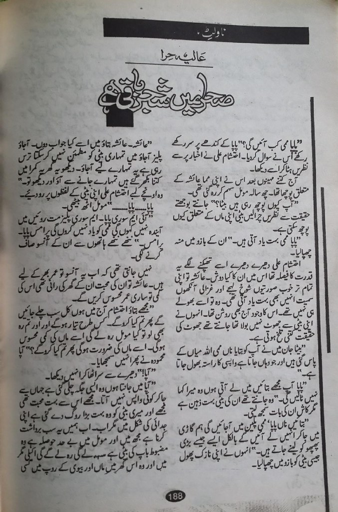 Sehra Mein Shajar Baqi Hai Famous Urdu Novel