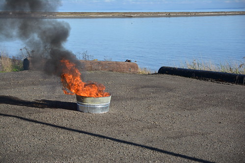Controlled Oil Spill Burn