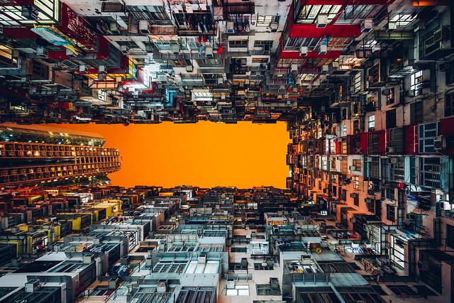Houses on Houses.  Quarry Bay, Hong Kong.