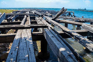 Abandoned pier in Kingston, Jamaica.