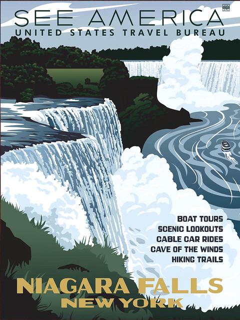 Niagara Falls ~ See America Travel Poster