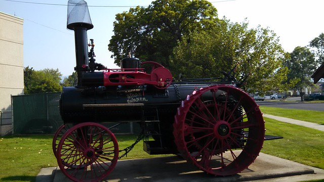 Grangeville ID. Steam traction engine.