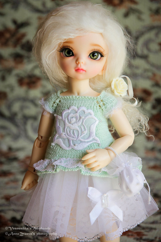 """Mint Rose"" set for Littlefee (YOSD) by Vesnushka Handmade"