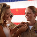 A chief has her anchors pinned by her wife. by Official U.S. Navy Imagery