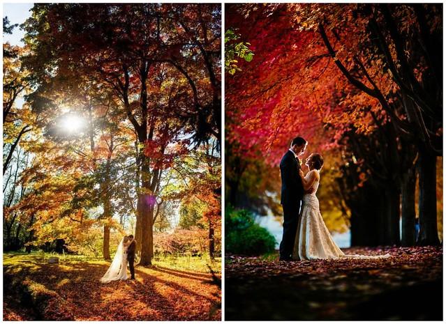 Photos de mariage en automne