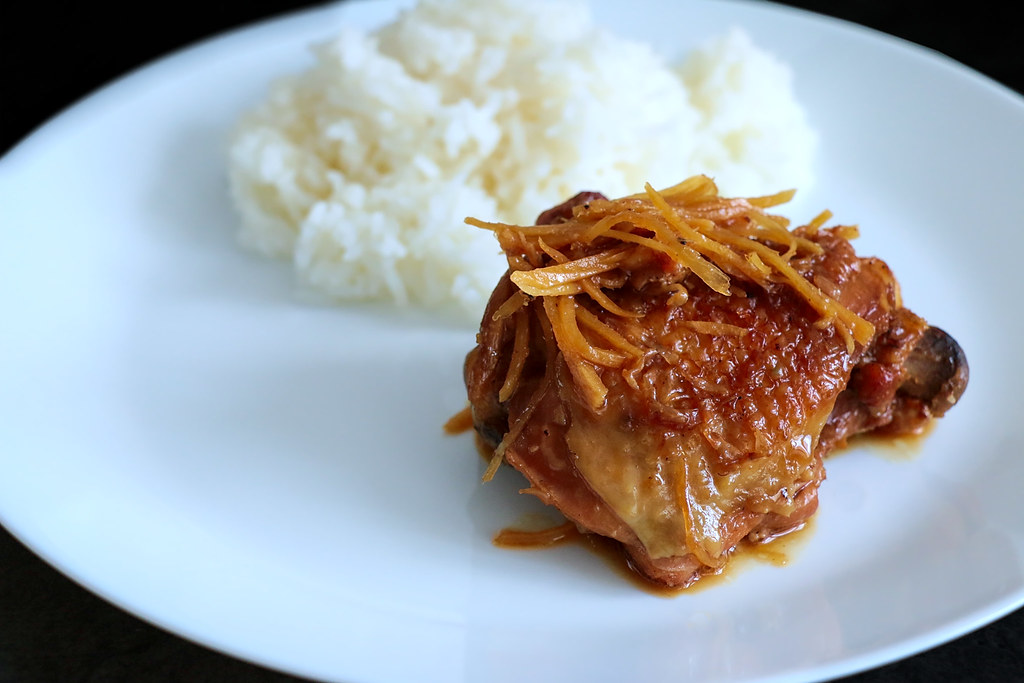 Ga Kho Gung ~ Vietnamese Caramelized Ginger Chicken Recipe | platedpalate.com