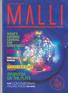 MALLI, Chennai's first food magazine