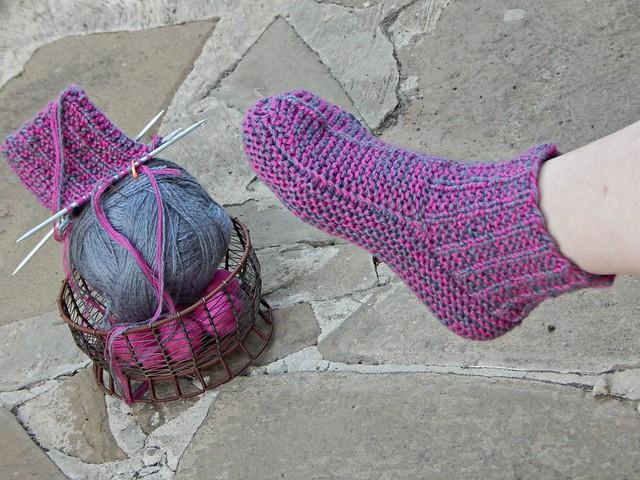 вязаные домашние носки - тапочки | ХорошоГромко.ру