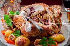 Christmas Chicken Stuffed with Bacon, Pistachio, F…