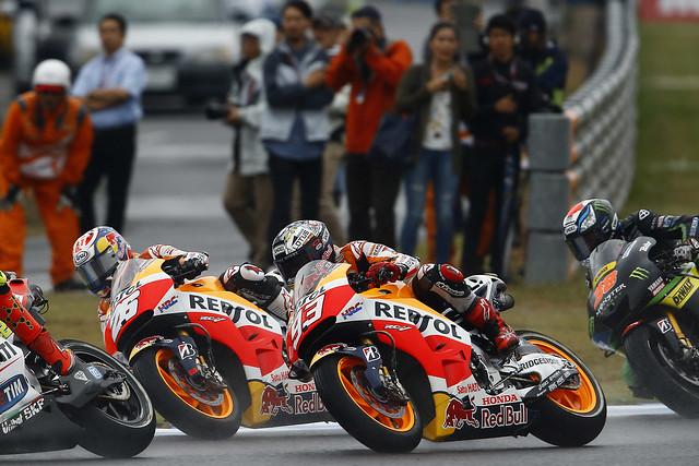 Dani Pedrosa y Marc Márquez. MotoGP. Japón 2015.