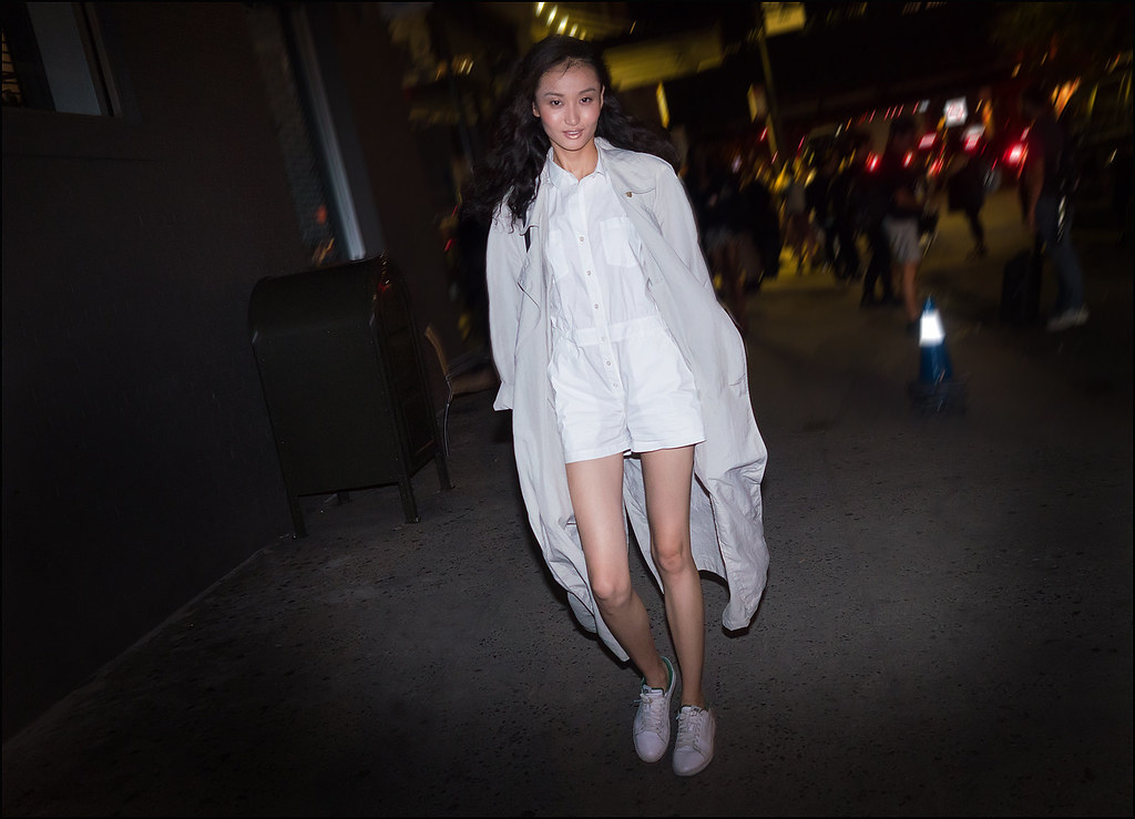 Walker after The Blonds NYFW 9-2015