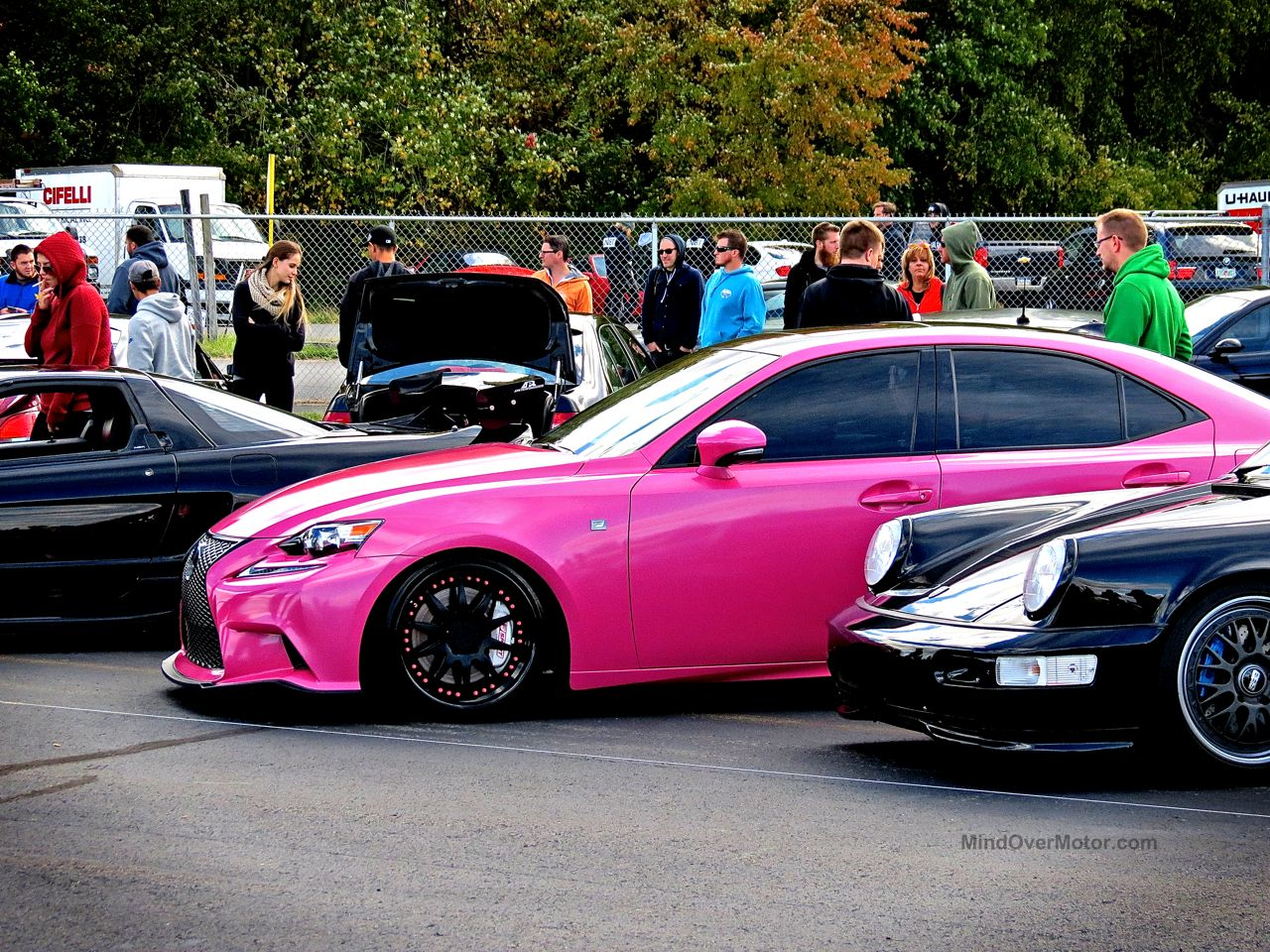 First Class Fitment Pink Lexus IS 350