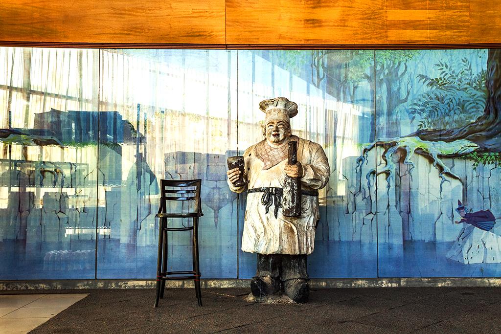 Chef statue inside Family Center--Batam