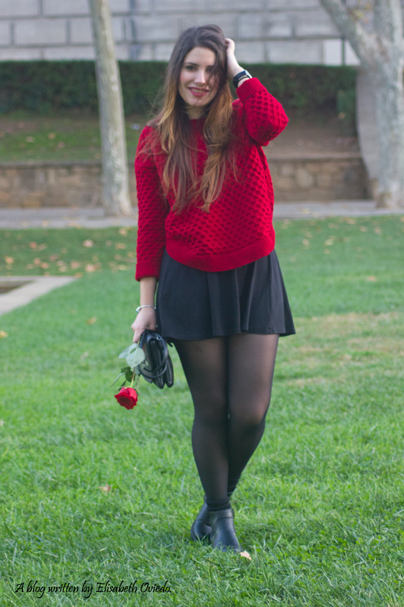 black dress y jersey rojo - HEELSANDROSES (2)