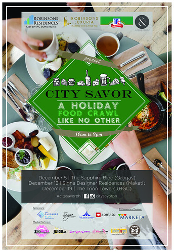 City Savor Holiday foodie festival coming to Makati, Ortigas and BGC