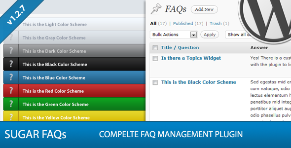 Codecanyon Sugar FAQs v1.3.1 - WordPress FAQ Management Plugin