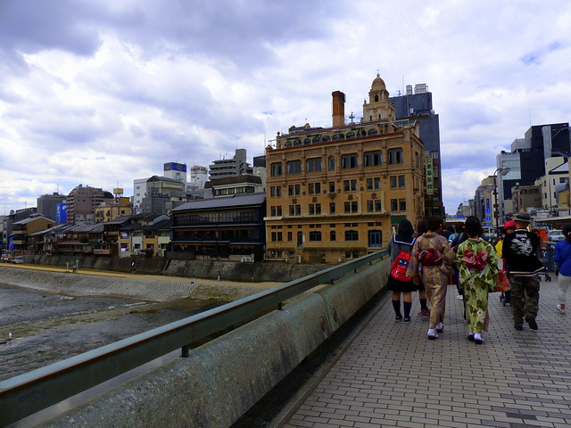 Crossing the Kamogawa